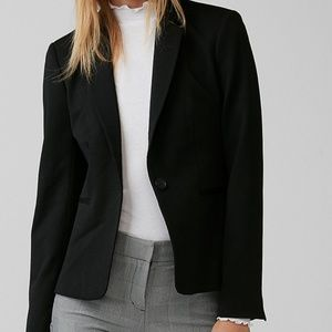 Express single button black blazer